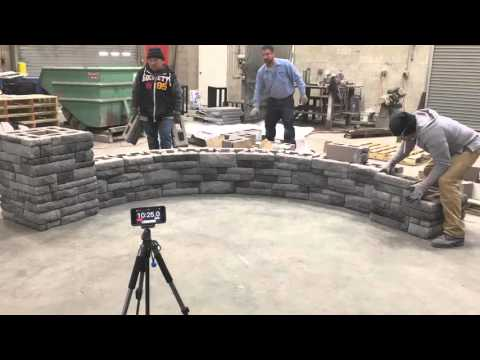 Time-Lapse Wall Build EP Henry Double Sided Cast Stone Wall