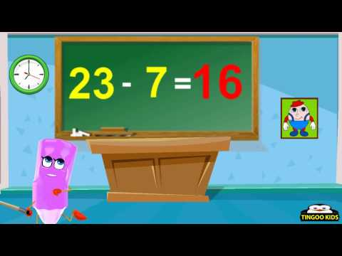 HomeSchool Tutorial | Subtract 23 Table | Kids Math Online Education (English Language)