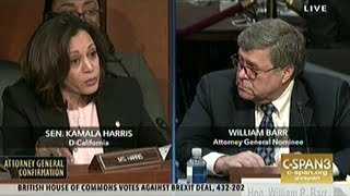 Senator Harris Asks Attorney General Nominee Barr About Marijuana Legalization And Private Prisons!