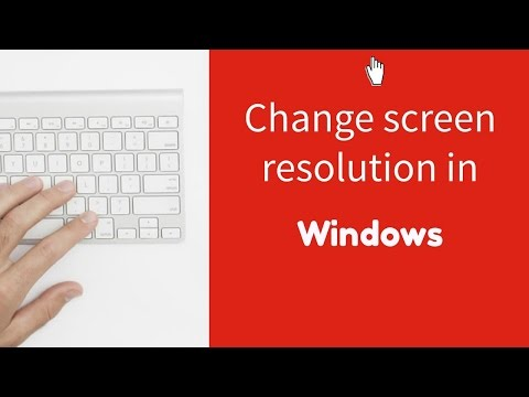 Changing the screen resolution in Windows