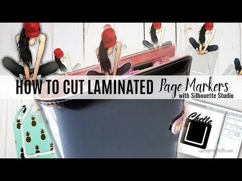 How to Cut a Laminated Page Mark with Silhouette PixScan Cutting Mat   Scrapcraftastic