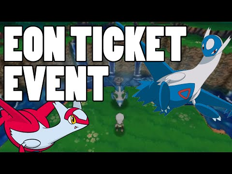 Eon Ticket Event Gameplay - How to Catch Latios AND Latias Omega Ruby and Alpha Sapphire
