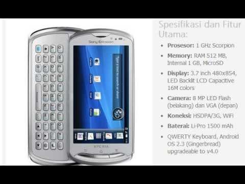 Harga HP: SONY Ericsson Xperia Pro
