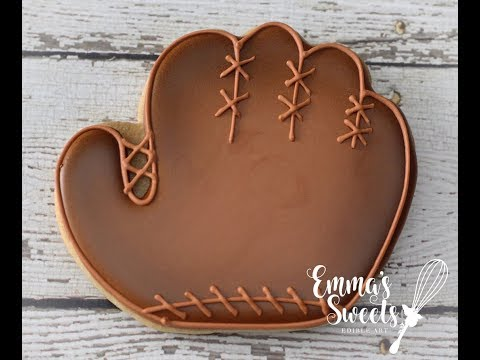Baseball Glove Cookies by Emma's Sweets