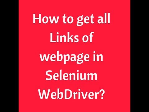 How to get all Links of webpage in Selenium WebDriver | Selenium Interview Questions