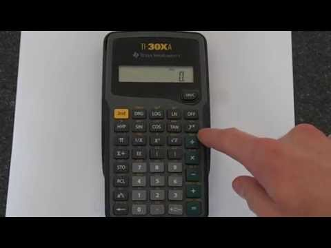 TI-30Xa: Exponents (Powers) and Exponentials