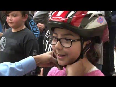 @TorontoPolice Bike Helmet Giveaway at St.Matthews School