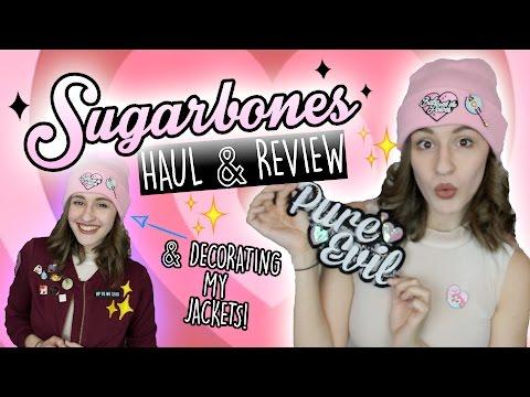✨ SUGARBONES ✨ HAUL/REVIEW & DECORATING MY JACKET!  || Shut Up Kristen!