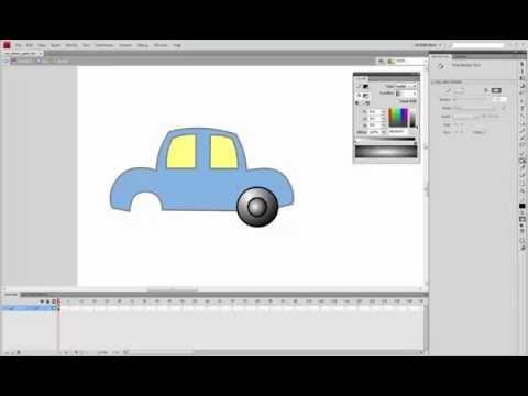 Adobe Flash - Creating car and driver [part 1]