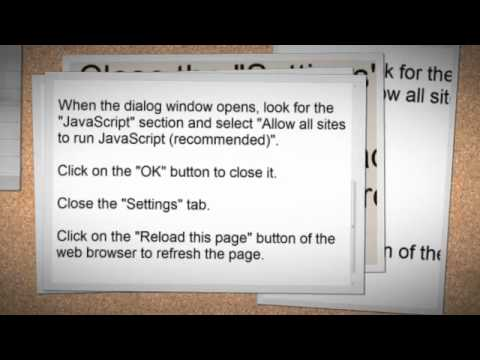 How to enable JavaScript in your browser