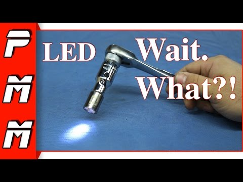 LED Socket Extension Review! Ampro T19110 Lighted Extension LED flashight work light