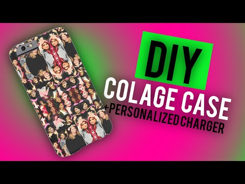 DIY: Collage Case + How To Personalize a Phone Charger (Inexpensive & Easy)