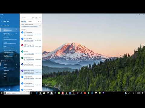 Multiple email accounts and windows10