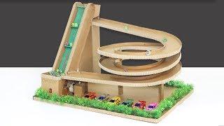 DIY Auto Marbel Run Game Machine Of cardboard ! Marble Race