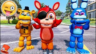 NEW ADVENTURE FOXY! NEW FOXY ANIMATRONIC IS HERE! (GTA 5 Mods For Kids FNAF RedHatter)