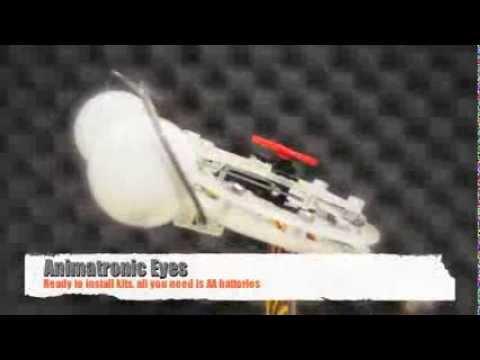 Animatronic puppet eyes kit