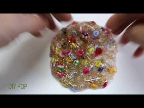 Satisfying Gold Flake Slime ASMR Video! DIY POP