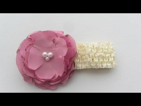 Easy Silky Fabric Flower Tutorial Craft Tutorial