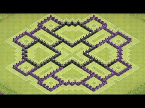 Clash Of Clans - TH8 FARMING Base BEST Town Hall 8 Defense Strategy Dark Elixir Spell Factory Update