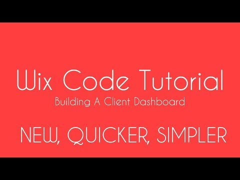 Building A Client Dashboard in Wix - Wix Code Tutorial 2018 - Learn Wix Code