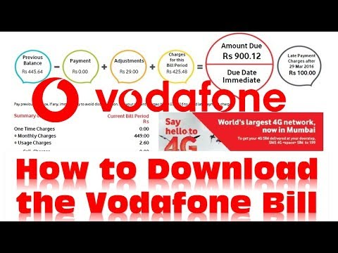 How to download  previous month Vodafone Postpaid Bill