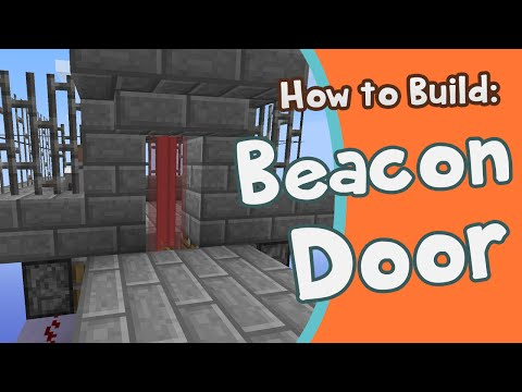 Minecraft Beacon Door - How To Build