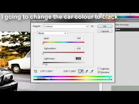 Photoshop Tutorial - Changing Car Color