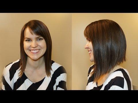 HOW TO CUT WOMENS HAIR // DRAMATIC BOB HAIRCUT