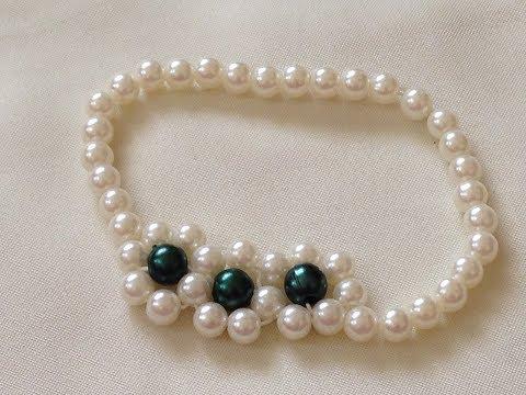 diy Easy Pearl bracelet | beaded bracelet | beading | how to make pearl bracelet | easy tutorial