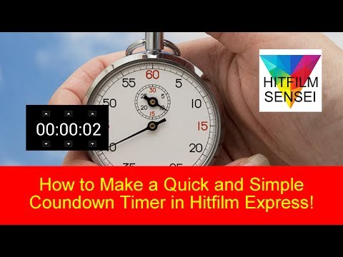 How to Make a Quick and Simple Countdown Timer in Hitfilm Express!