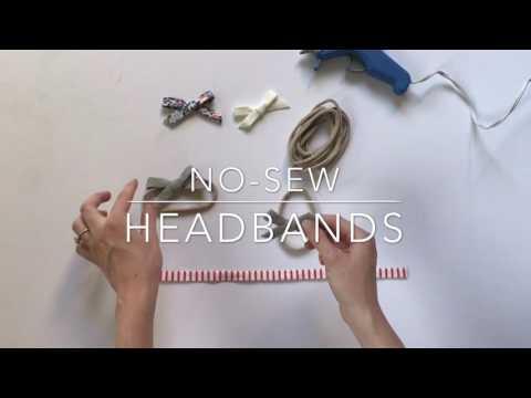 Simple No-Sew Baby Bow Headband Tutorial