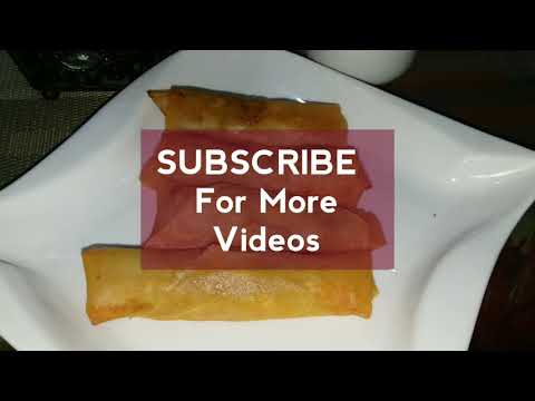 Chicken spring roll recipe | Chicken roll recipe | how to make chicken roll
