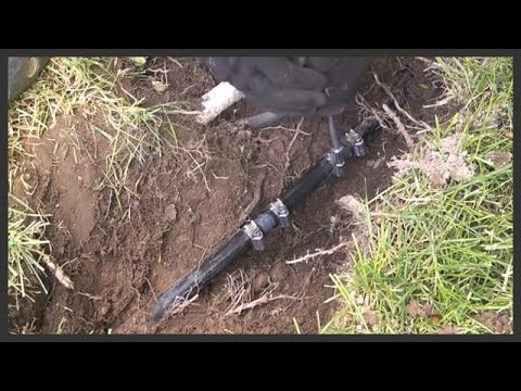 How to repair Polyethylene (Black Plastic) sprinkler pipe