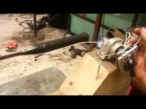 home made stringing machine