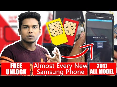 FREE | How To Unlock Samsung Sim Network Unlock Pin | J5 PRO,J7 PRO,, Almost Every New Samsung Phone