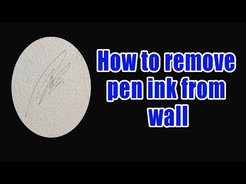 how to remove pen ink from wall