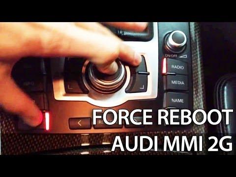 How to force reboot Audi MMI 2G 3G (A1 A4 A5 A6 A7 A8 Q3 Q5 Q7) reset restart frozen