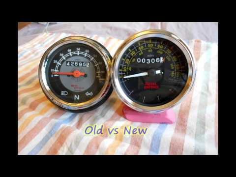 Replaced Speedometer of Royal Enfield Motorcycle