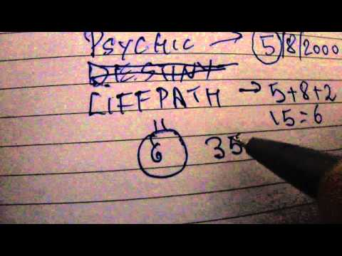 life path number /name number/ destiny number what are they?