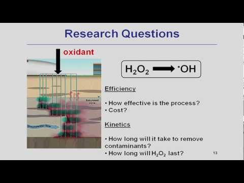 Hydrogen peroxide activation by iron minerals for  groundwater treatment
