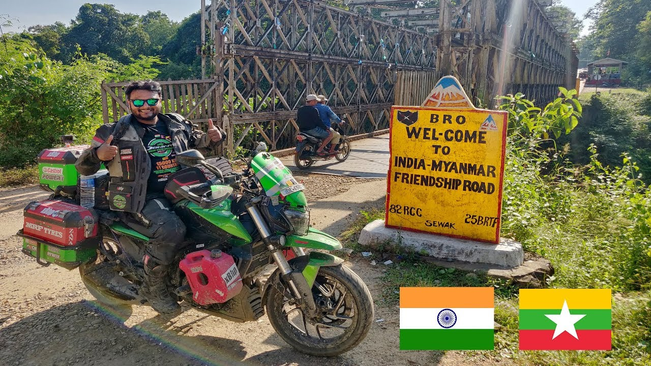 ENTERED IN MYANMAR ( BURMA ) BY LAND BORDER ON MY MOTORCYCLE 🔥
