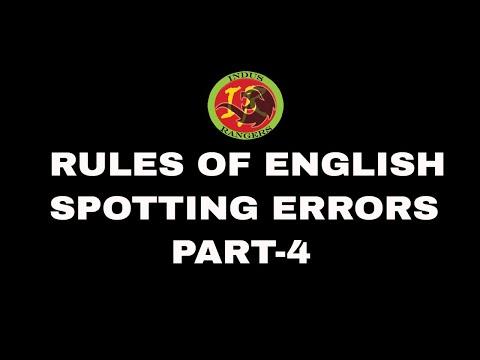 Rules of English Language - Part 4