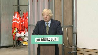 """Johnson lanza """"new deal"""" de 5.000 millones de libras para el Reino Unido   AFP"""