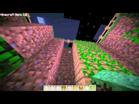 Minecraft 1.8 Tutorial : How to have vines hanging from user placed blocks