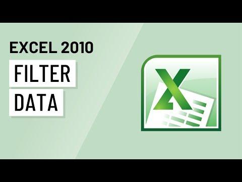 Excel 2010: Filtering Data