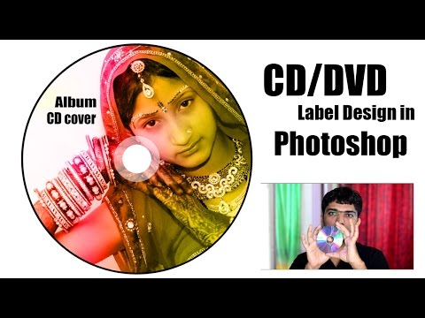 How to Design CD DVD Label/cover in adobe Photoshop