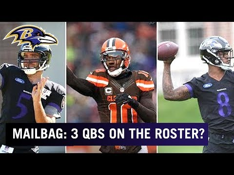 Should the Ravens Keep 3 Quarterbacks: Flacco, RGIII & Jackson? | Mailbag