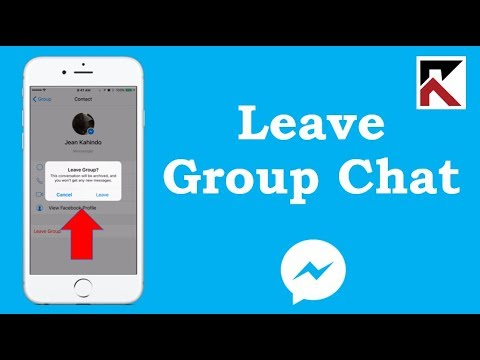 How To Leave A Group Conversation Messenger