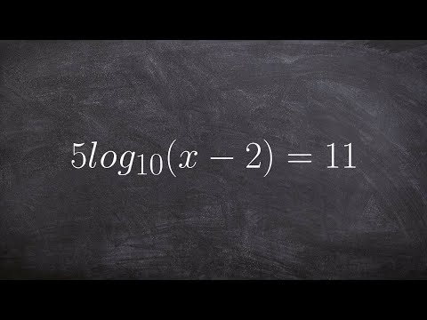 Solving a logarithmic equation by using inverse properties