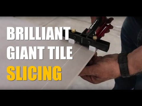 (PREVIOUS VERSION) Cutting thin strips from large format gres porcelain slabs